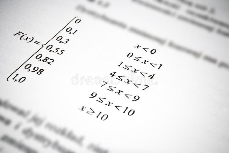 Formule matematiche e calcoli. Concetto di istruzione di per la matematica. fotografie stock