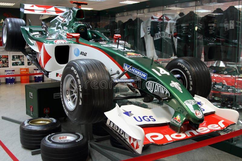 Formule 1 raceauto in het museum van automobiele sporten in het Olympische Park van Sotchi royalty-vrije stock fotografie