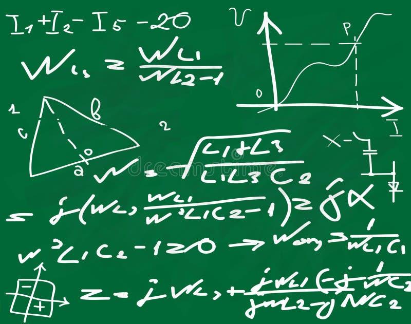 Formule scritte sulla lavagna illustrazione vettoriale