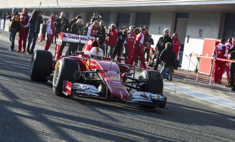 Formule 1, 2015 : Sebastian Vettel, Ferrari image stock