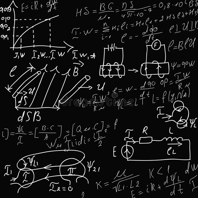 Formule sul nero illustrazione di stock
