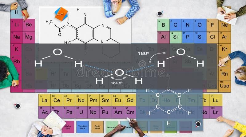Formuleexperiment Atom Chemistry Concept royalty-vrije stock foto's