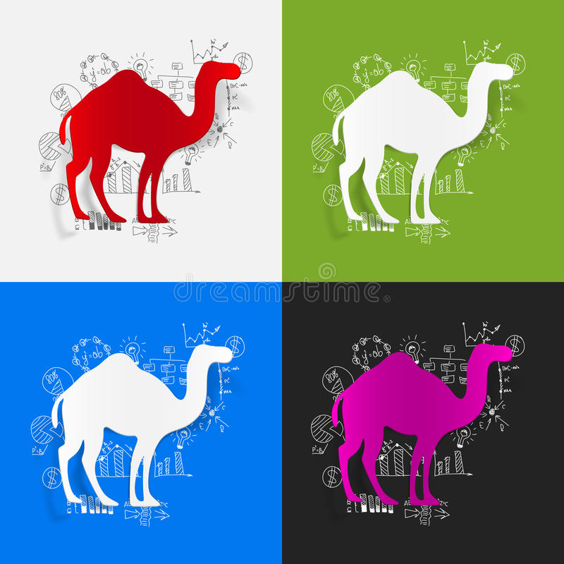 Formules d'affaires de dessin : chameau illustration de vecteur