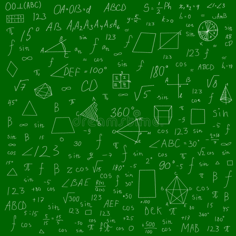 Fond de formules d'école illustration de vecteur