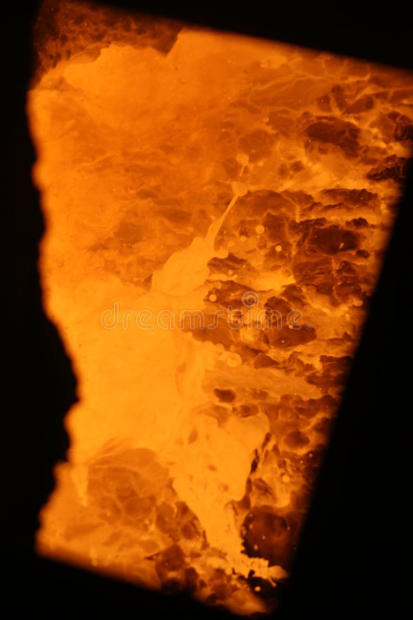 Fornace della siviera, acciaio di Highveld e vanadio, Sudafrica fotografia stock