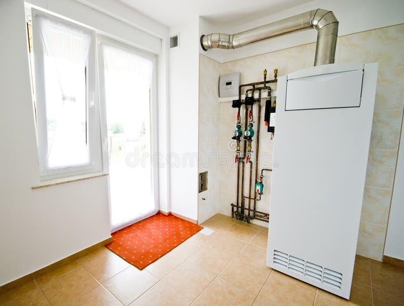 Fornace di gas domestica immagini stock libere da diritti