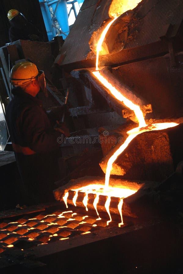 Fornace in pianta metallurgica immagine stock