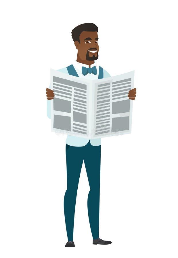 Fornal czytelnicza gazetowa wektorowa ilustracja ilustracja wektor