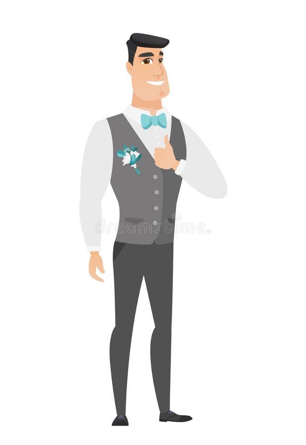 Fornal daje kciukowi w górę wektorowej ilustraci royalty ilustracja