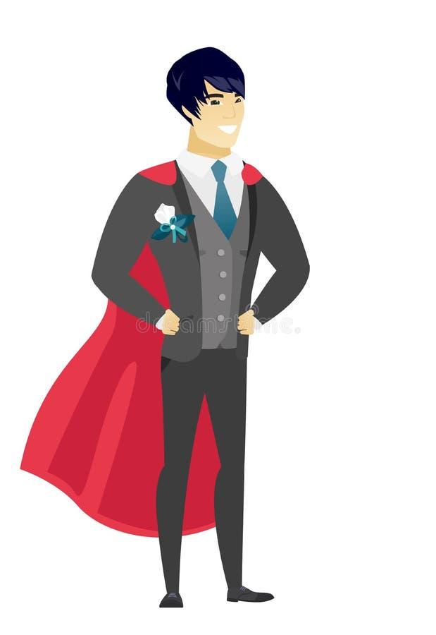 Fornal jest ubranym czerwoną bohater pelerynę ilustracji