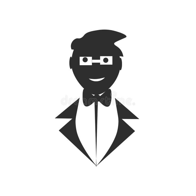 Avatar Osoby Pracująca Ikona Ilustracja Wektor - Ilustracja