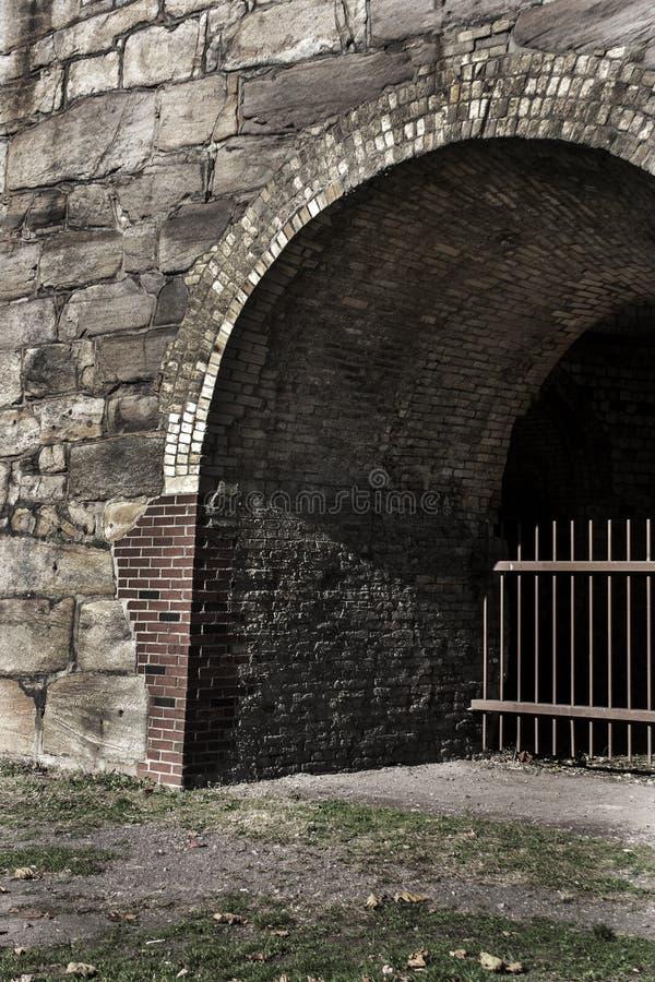 Fornalha de aço de pedra fotografia de stock royalty free