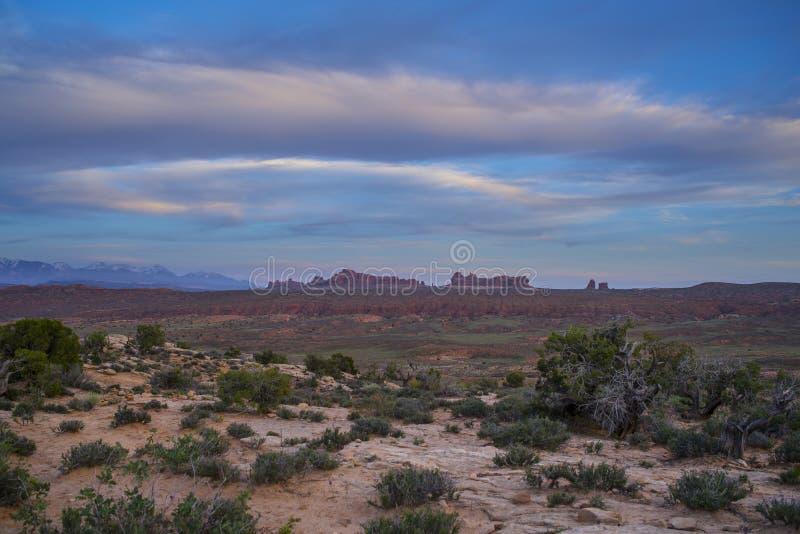 A fornalha impetuosa negligencia o parque nacional dos arcos fotos de stock royalty free