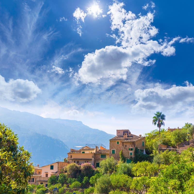 Fornalutx village in Majorca Balearic island stock image