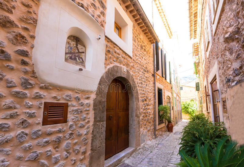 Fornalutx village in Majorca Balearic island royalty free stock images