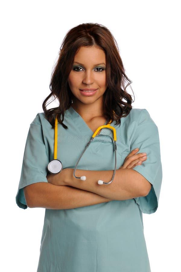 Fornecedor de serviços de saúde novo do Latino fotografia de stock