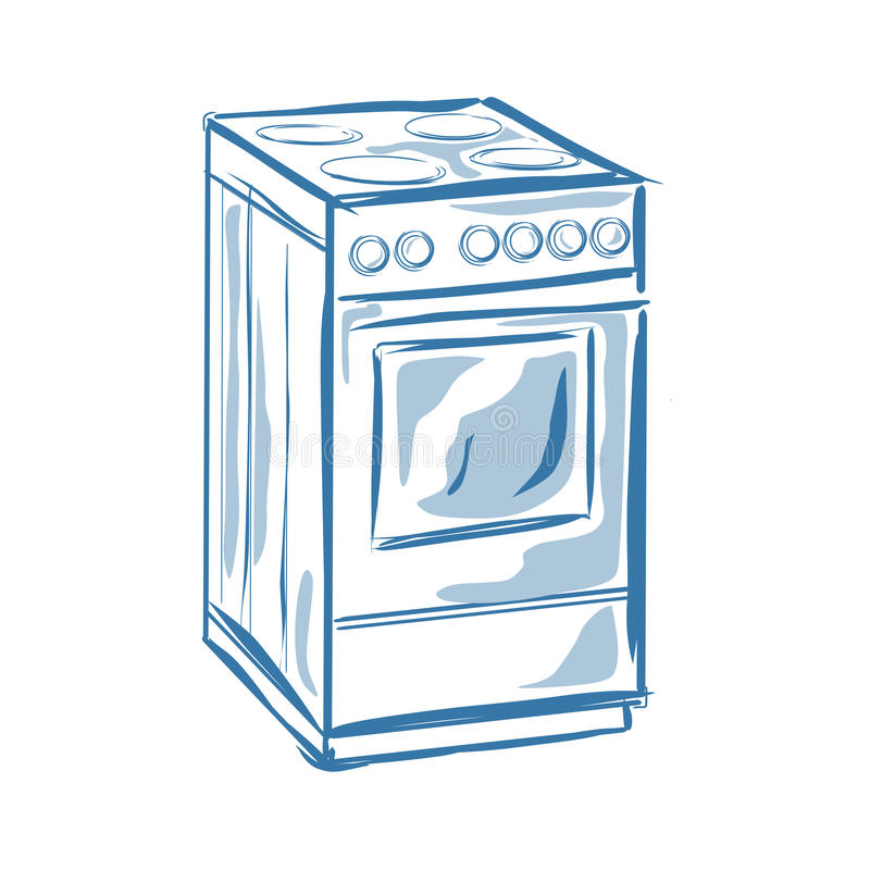 Fornello illustrazione di stock