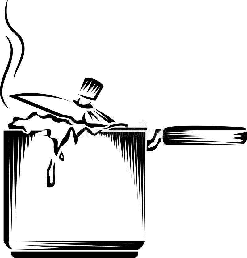 Fornello con alimento illustrazione di stock