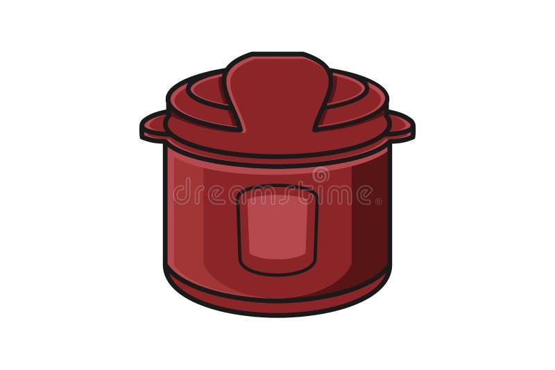 Fornello di riso Logo Designs Inspiration, illustrazione di vettore illustrazione di stock