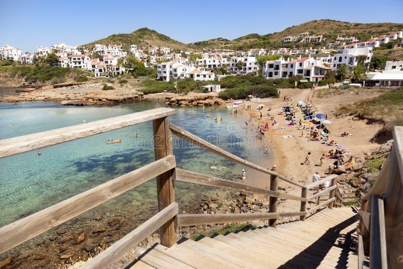 Fornells海滩 Menorca海岛 库存图片