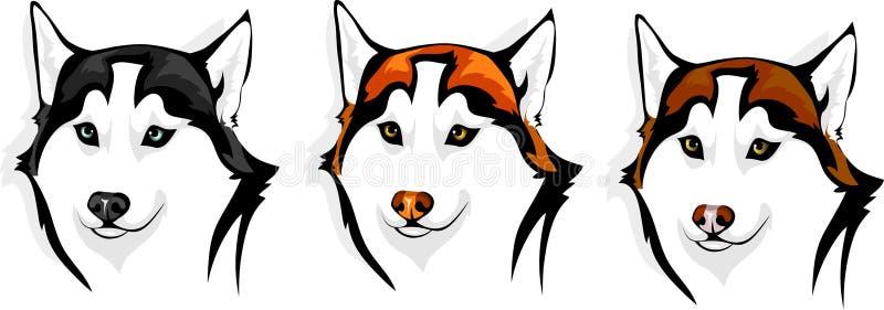 Fornido - lobo ilustración del vector