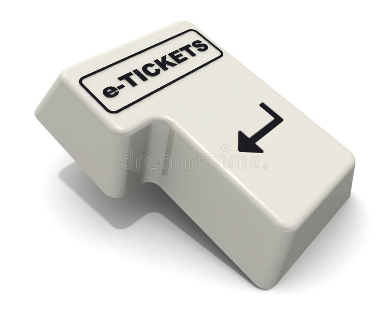 Fornisca la chiave con la parola di e-ticket royalty illustrazione gratis