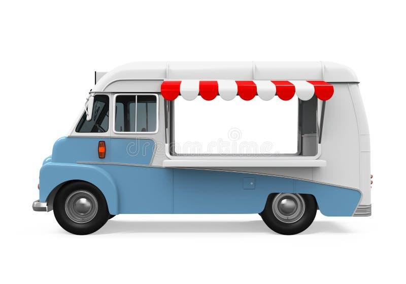 Fornitore di alimento mobile dentellare illustrazione vettoriale