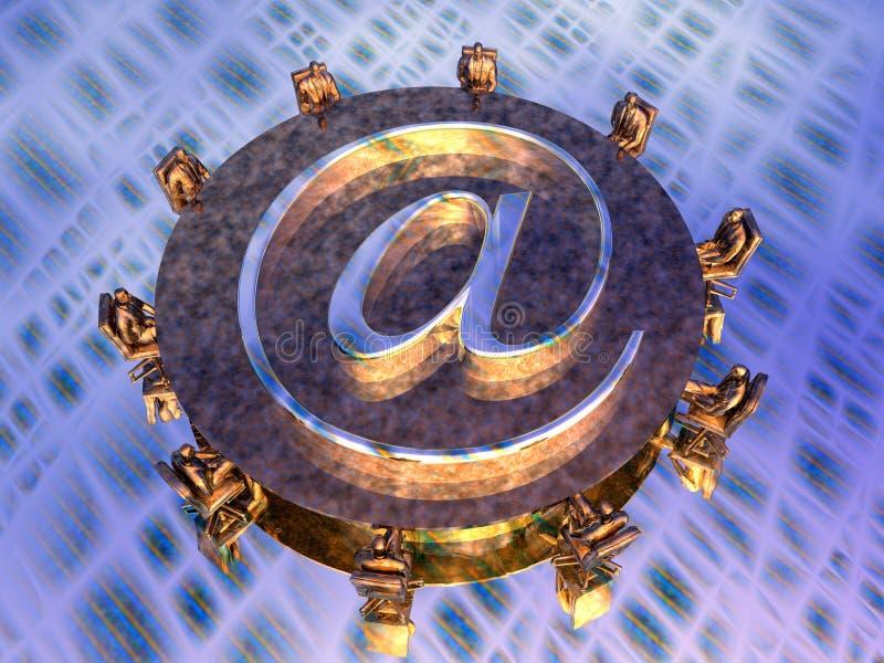 Fornitori di mail server royalty illustrazione gratis