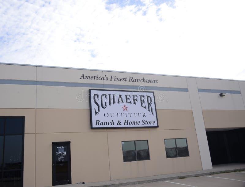 Fornitori ranch di Schaefer e deposito della casa, Fort Worth, il Texas immagini stock