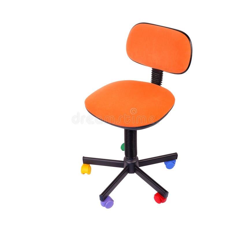 Forniture di ufficio - sedia dell'ufficio del bambino Isolato fotografie stock