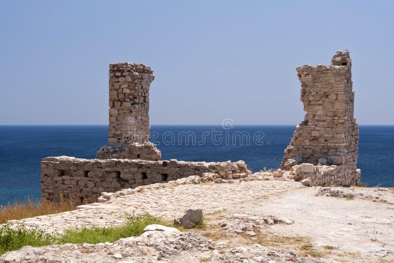 Fornlämning på Samos royaltyfri fotografi