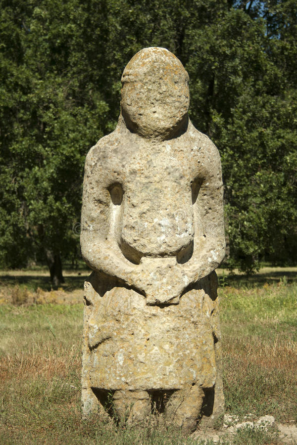 fornminne 2 Scythian stäppskulptur arkivbilder