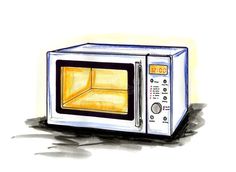 Forno de microonda ilustração do vetor