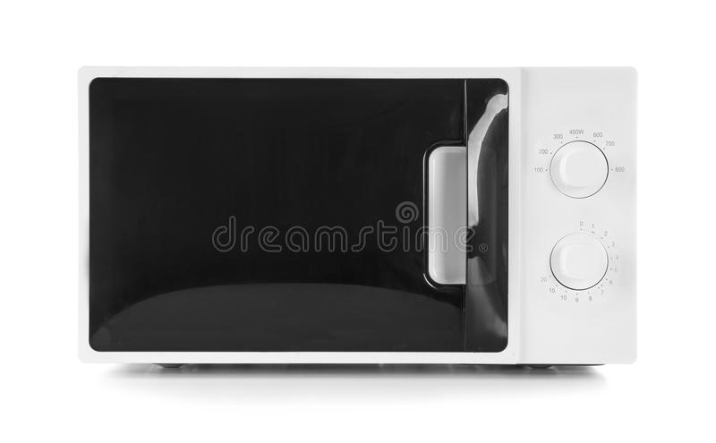 Forno de microonda moderno fotografia de stock