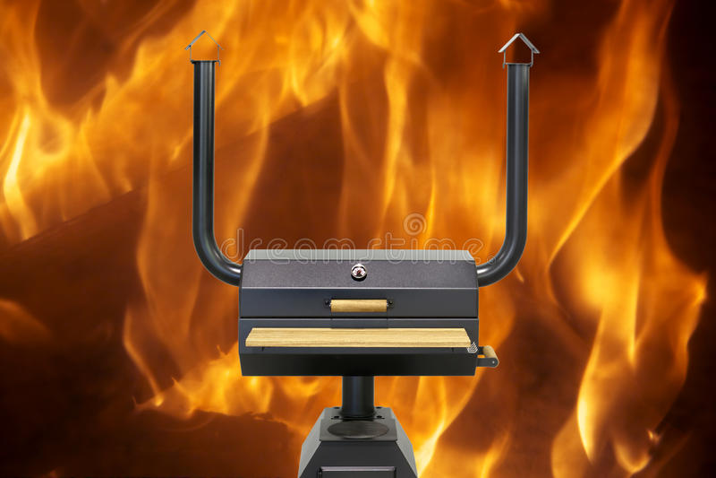Forno di cottura multifunzionale, fuoco fotografie stock