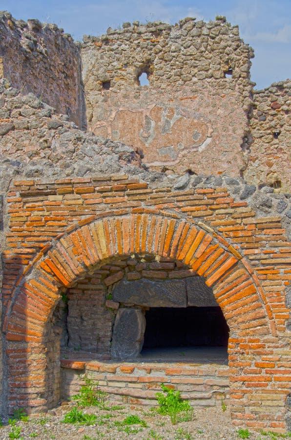 Forno dos padeiros em Pompeii, Itália fotografia de stock
