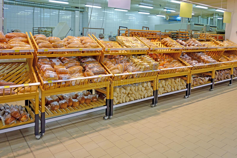 Forno e negozio del pane fotografia stock