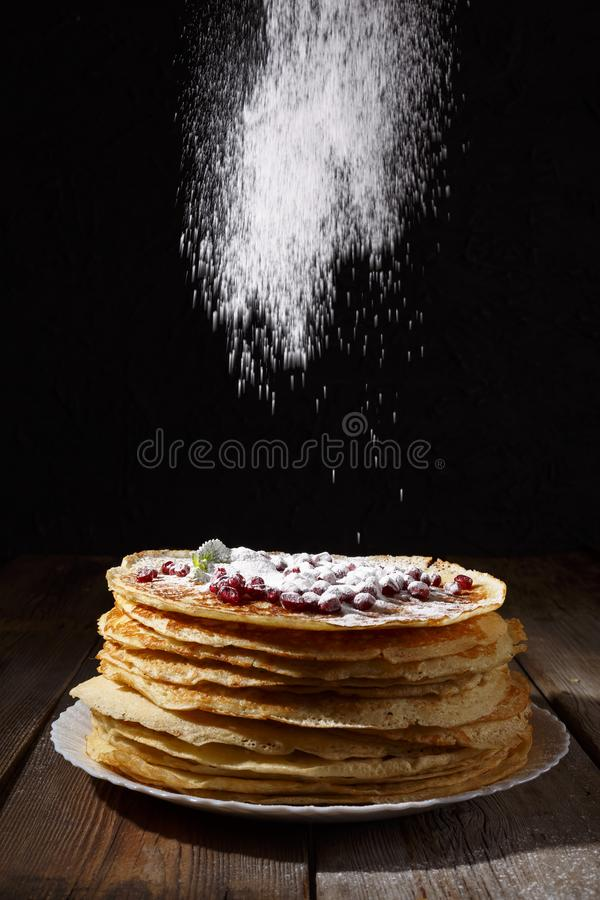 forno Forno fresco pancake E Pancake russi, Shrovetide, Mardi Gras fotografia stock
