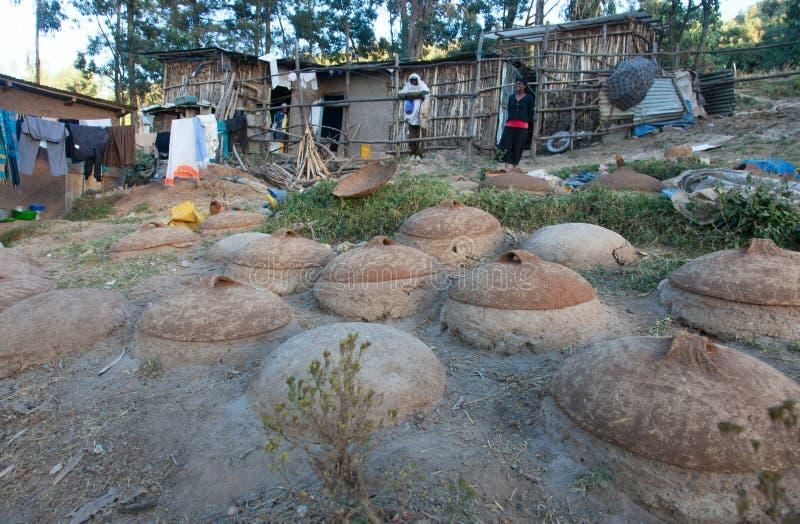 Forno per pane etiopico tradizionale immagine stock