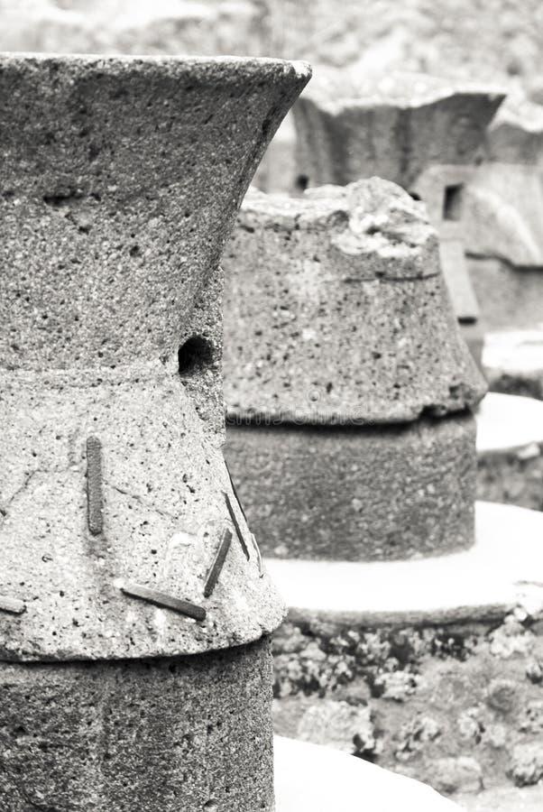 Fornos antigos do pão na cidade de Pompeii Italy imagem de stock