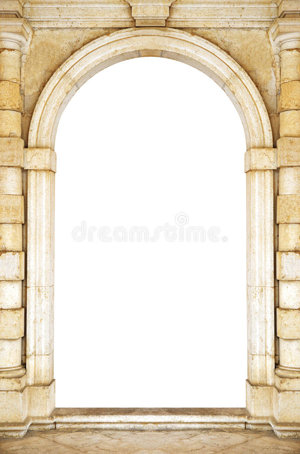 Forntida ärke- dörröppning royaltyfri foto