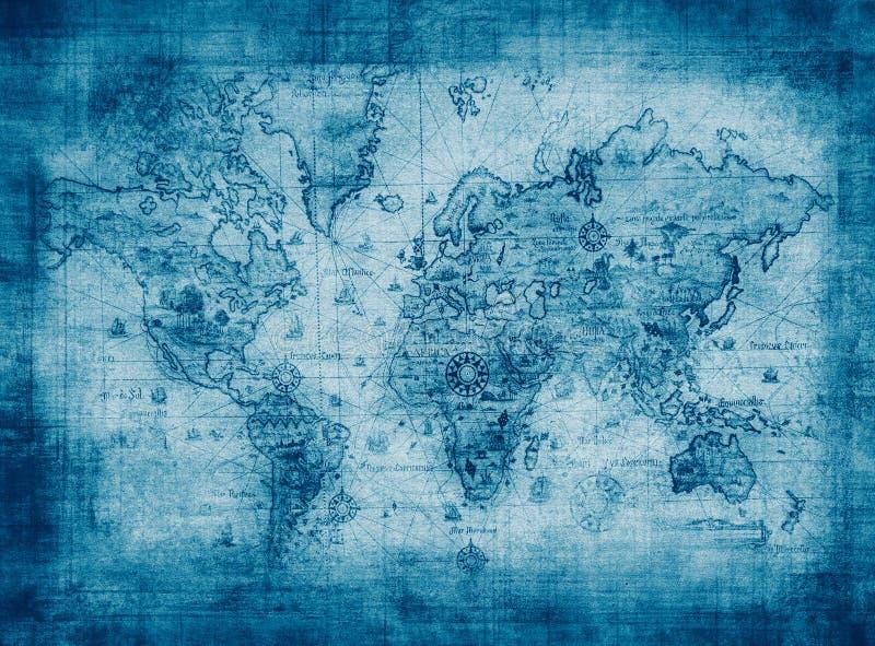 Forntida översikt av världen stock illustrationer
