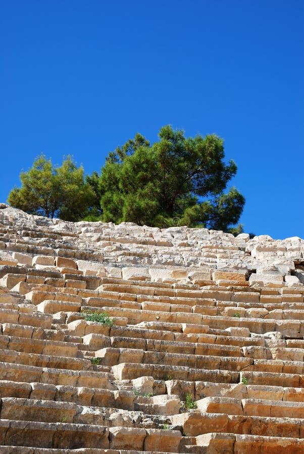forntida amphitheater arkivfoto