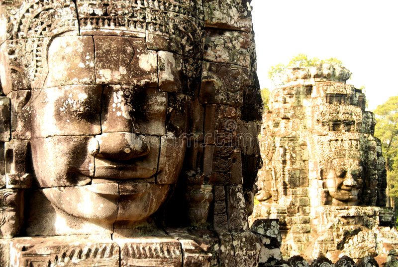 forntida angkorcambodia gudar s royaltyfri foto