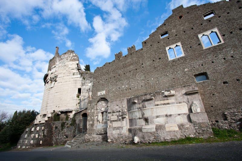 forntida appiaväg rome royaltyfri fotografi
