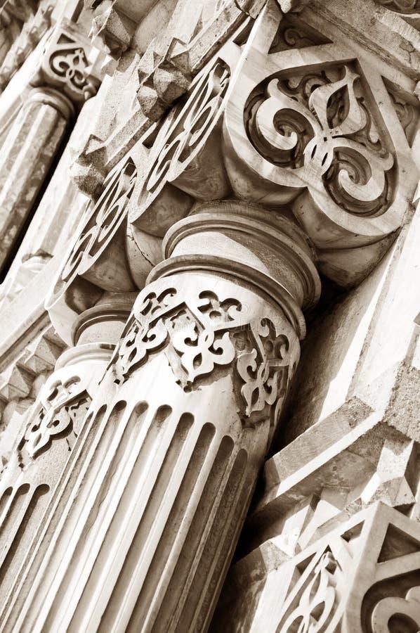 Forntida arkitektoniska detaljer royaltyfri fotografi