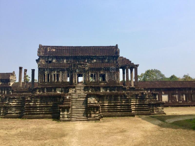 forntida arkitektur Angkor Wat hinduiskt tempel för den cambodia för angkoren skördar banteay lotuses laken siemsreytempelet camb fotografering för bildbyråer