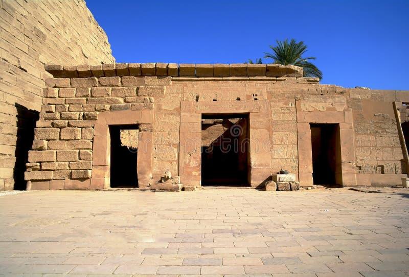 Forntida arkitektur av Karnak, Egypten arkivbild
