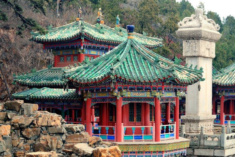 Forntida arkitektur för Peking arkivfoto
