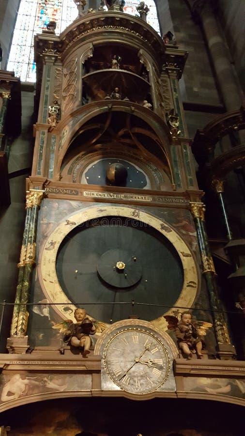 Forntida astronomisk klocka arkivbild